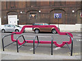 TQ3179 : Cycle Hoop on Webber Street by Stephen Craven