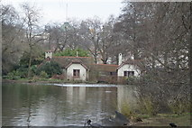 TQ2979 : View of Duck Island Cottage from the path in St. James's Park by Robert Lamb