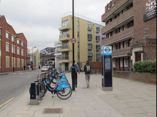 Cycle docking station, Webber Street