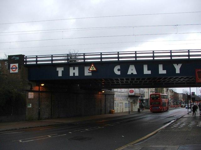 Railway bridge over Caledonian Road, Islington