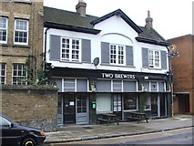 TQ3084 : Two Brewers, Islington by Chris Whippet