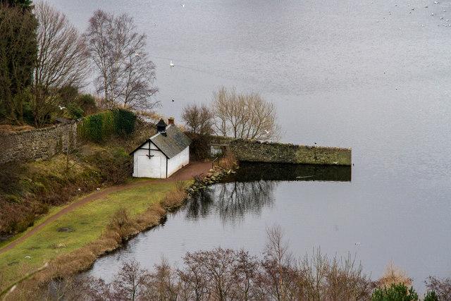 Boathouse on Duddingston Loch