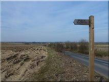 TF9226 : Public footpath to Hall Farm , Colkirk, Norfolk by Richard Humphrey