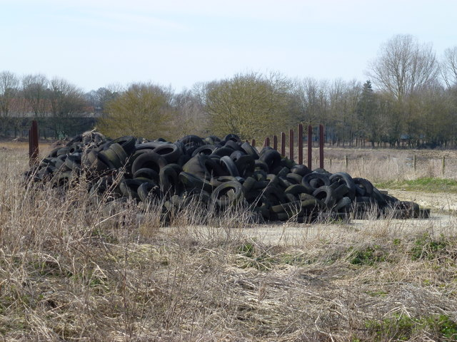 High on mileage, low on silage - Old tyres in Norfolk