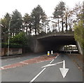 SS9580 : North side of a motorway bridge, Pencoed by Jaggery