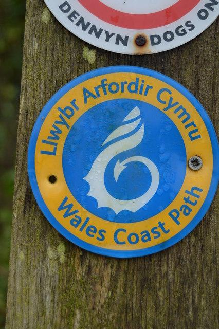 Wales Coast Path Logo, Traeth Bychan