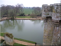 TQ7825 : Bodiam Castle moat from the North-western Tower by Marathon