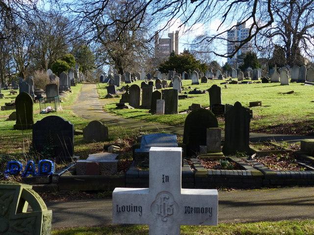 Gravestones at Welford Road Cemetery