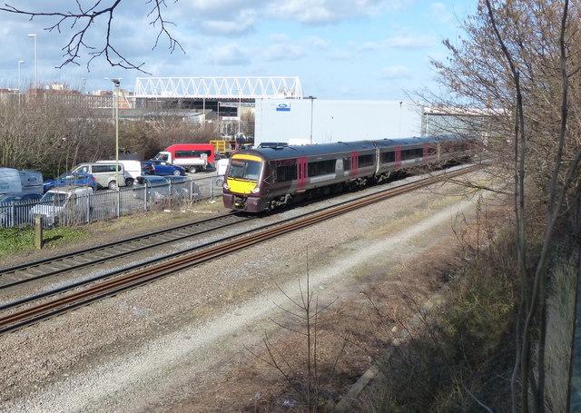 Train on the Midland Main Line