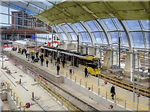 SJ8499 : New Metrolink Platforms at Victoria Station (March 2015) by David Dixon