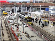 SJ8499 : Metrolink Expansion at Victoria Station by David Dixon