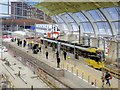 SJ8499 : Manchester Victoria Metrolink Stop (March 2015) by David Dixon