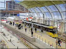 SJ8499 : Manchester Victoria Metrolink Stop (March 2015) by David Dixon
