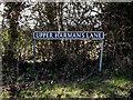 TM2283 : Upper Harman's Lane sign by Geographer
