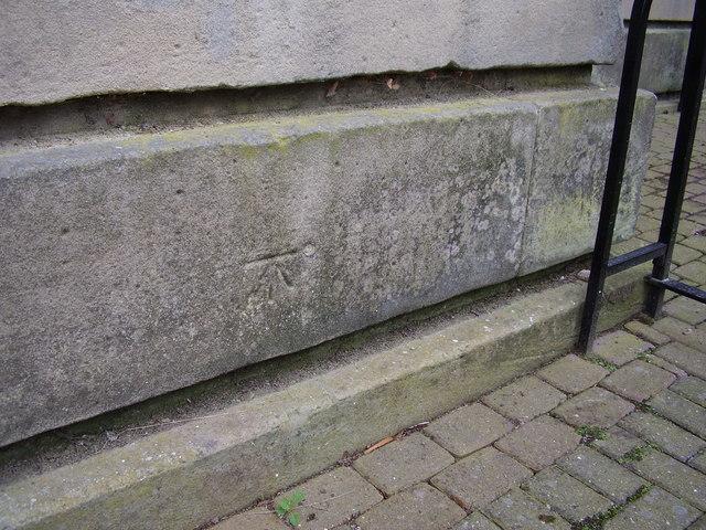 Bench mark on Vernon Gate