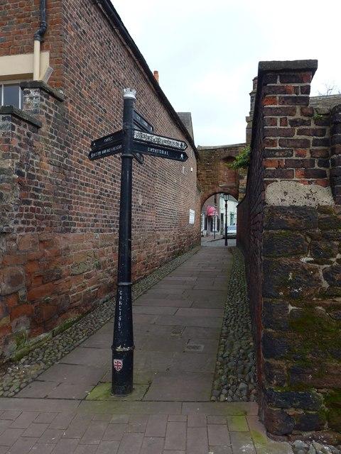 Signpost in West Walls