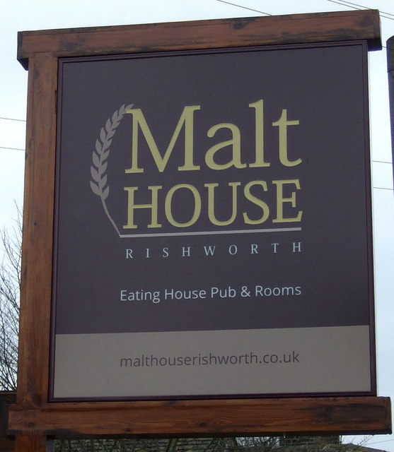 Sign for the Malthouse, Rishworth