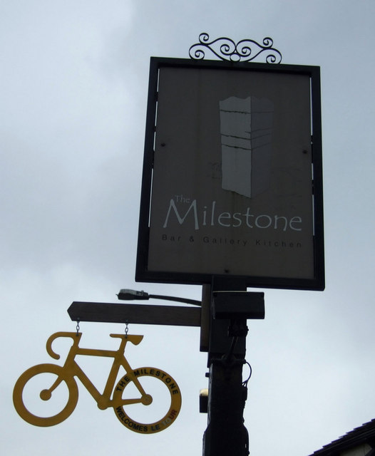 Sign for the Milestone, Ripponden