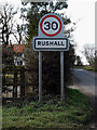 TM2082 : Rushall Village Name sign on Burnt House Lane by Adrian Cable