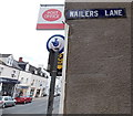 SO5012 : Old-style enamel name sign, Monmouth by Jaggery