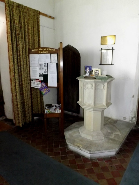 Font of St.Mary's Church