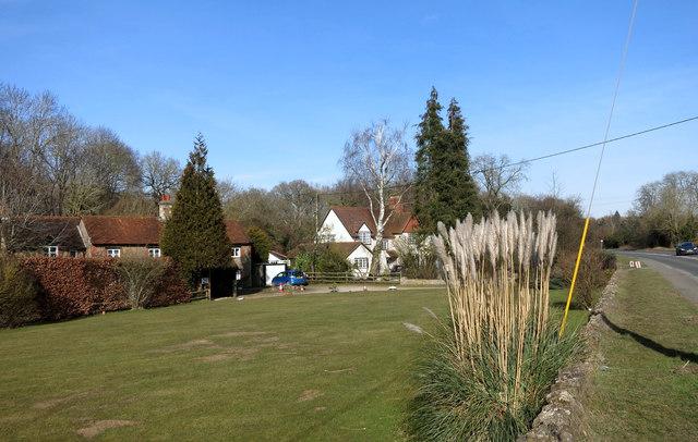 Houses near Tubney church