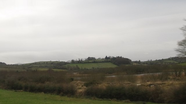 Drumlins and inter-drumlin hollow lakes west of the Carryduff Road
