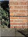 SP1585 : OS benchmark - Garretts Green, 174 Clopton Road by Richard Law
