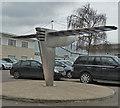 SP8267 : Sywell Aerodrome - Aeroplane sculpture by Rob Farrow