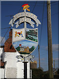 TM2281 : Needham Village sign by Adrian Cable