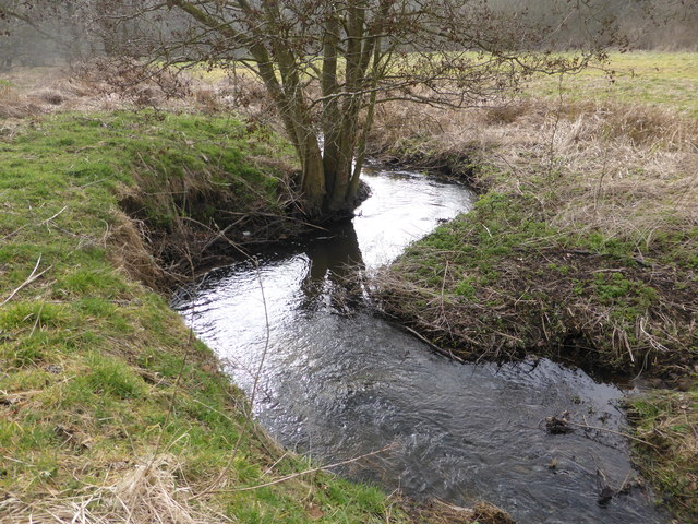 River Glaven near Edgefield Woods, looking south