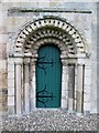 SE9843 : Restored  west  doorway  in  Norman  tower, St  Mary's  Etton by Martin Dawes