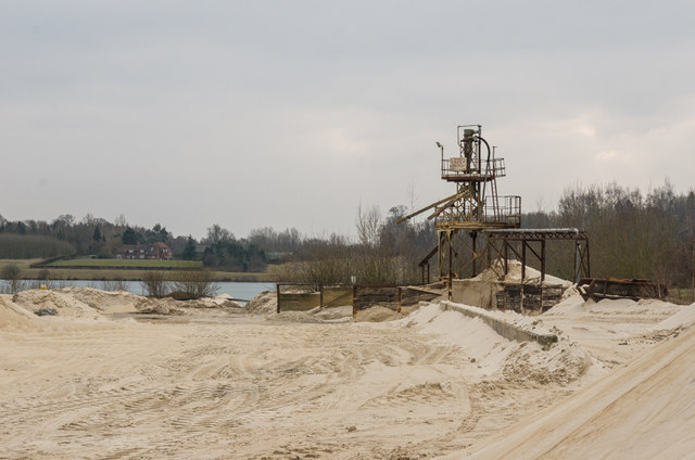 Sand processing plant