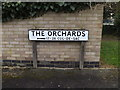 TM2972 : The Orchards sign by Adrian Cable