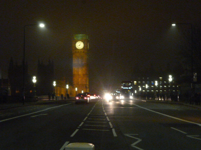 In the middle of Westminster Bridge