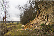 TQ2250 : Cliff fall by Ian Capper