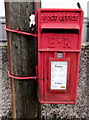 ST3090 : Queen Elizabeth II postbox on a pole in Malpas Road, Newport by Jaggery