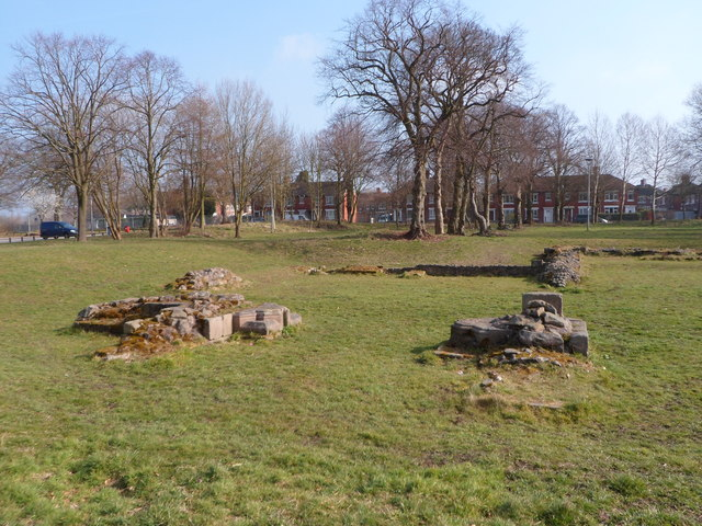Ruined foundations of Hulton Abbey