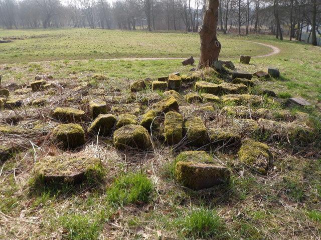 Random blocks of stone from Hulton Abbey remains