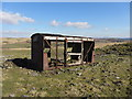 SN9014 : Derelict goods wagon near Pant Mawr by Gareth James
