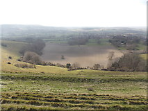 ST8412 : Child Okeford: a view south from Hambledon Hill by Chris Downer