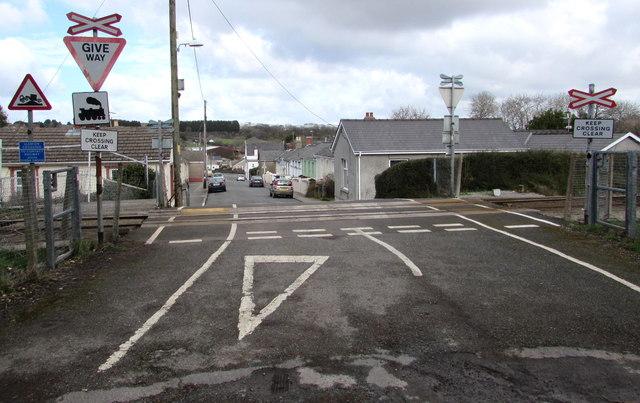 South side of Llanion Crossing, Pembroke Dock
