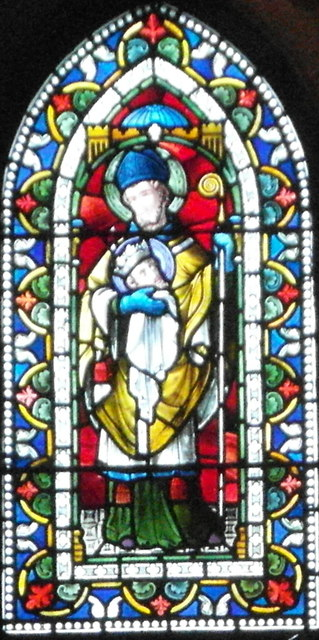 One of the Pugin windows in Bolton Priory Church