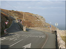 SH7783 : Road Junction on the Great Orme Marine Drive by G Laird