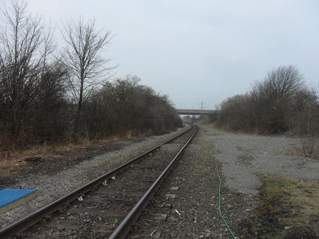 Blyth and Tyne Railway south of Rotary Way