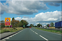 SE4285 : A19 - Moorhouse Lane turning ahead by Robin Webster