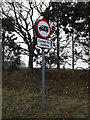 TM2484 : Roadsign on Gawdy Lane by Adrian Cable