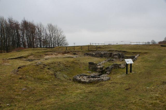 High Rake Mine, ruins