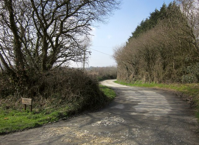 Farm lane to Witheven