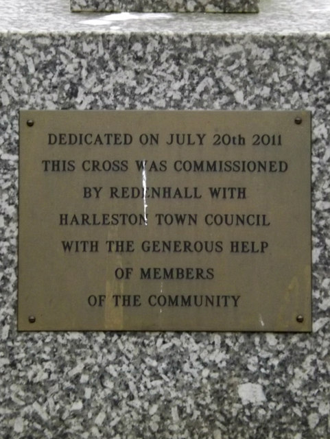 Plaque on the Memorial off Church Lane